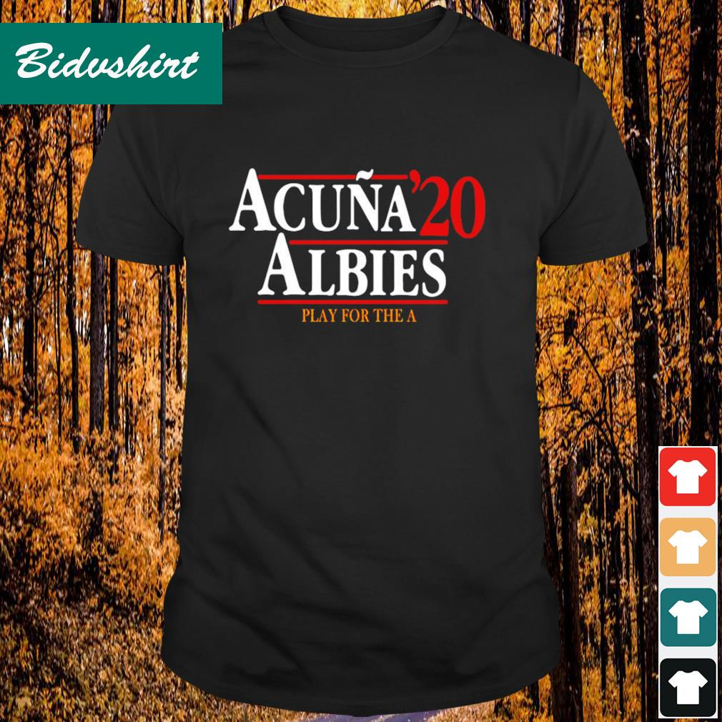 Acuna' 20 Albies play for the A shirt