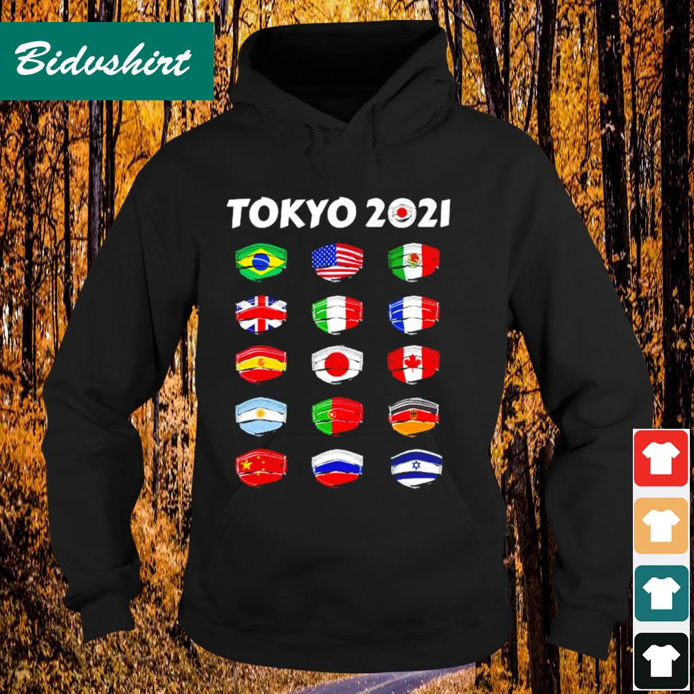 Tokyo 2021 Olympics World Countries flags Hoodie