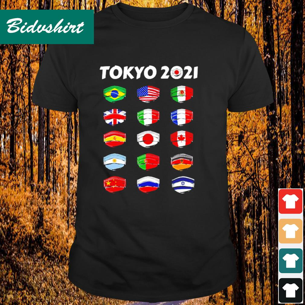 Tokyo 2021 Olympics World Countries flags shirt