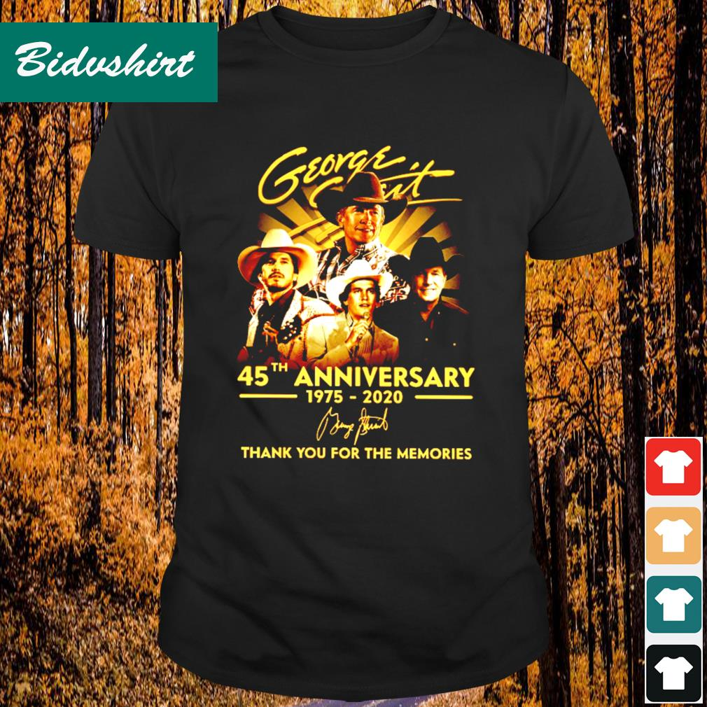 George Strait 45th anniversary 1975 2020 signature thank you for the memories shirt