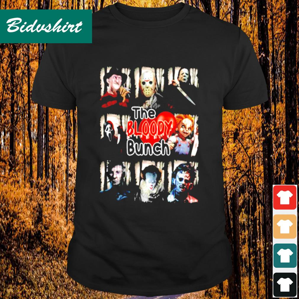 Horror movie character the bloody bunch shirt