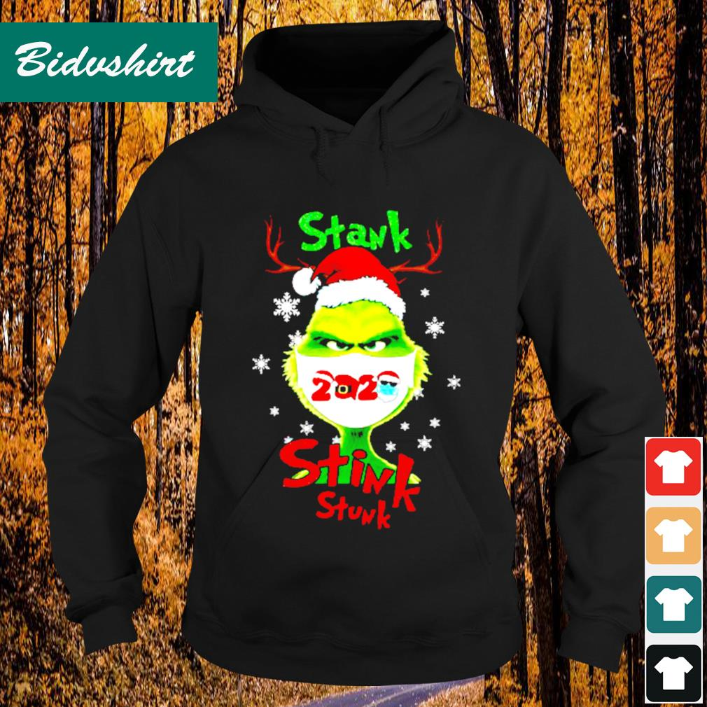 Grinch face mask stank stink stunk Christmas s Hoodie