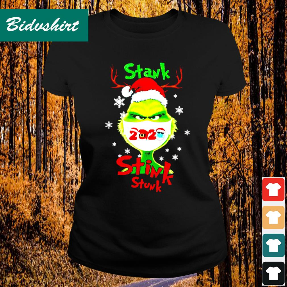 Grinch face mask stank stink stunk Christmas s Ladies-tee