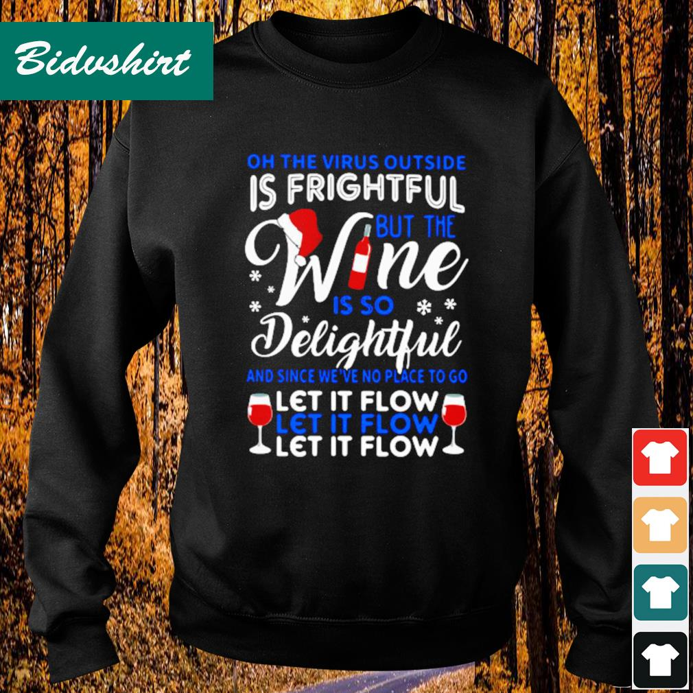 On the the virus outside is fright but the wine is so delightful s Sweater