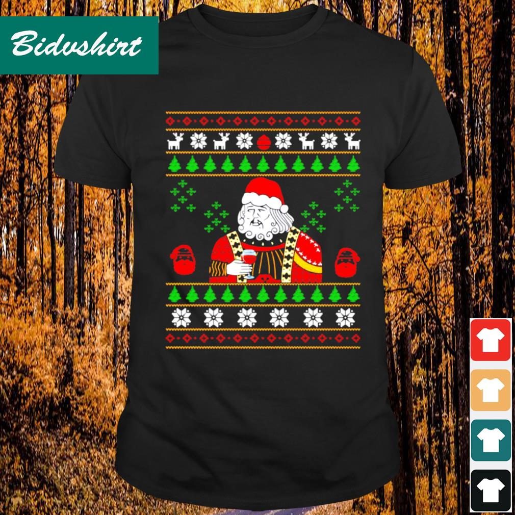 Santa Leonardo big fat jumper Christmas shirt