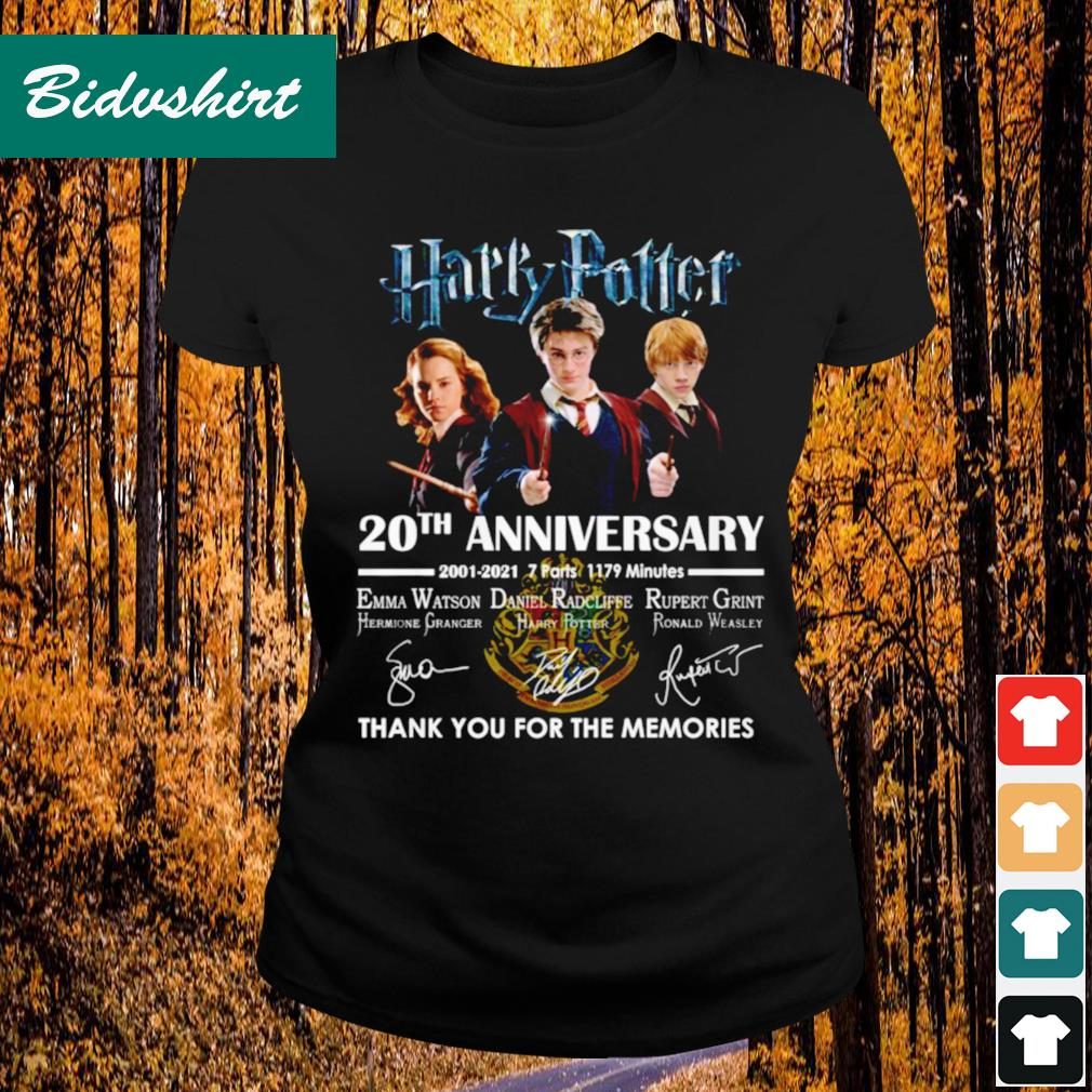 Harry Potter 20th anniversary 2001 2021 thank you for the memories s Ladies-tee