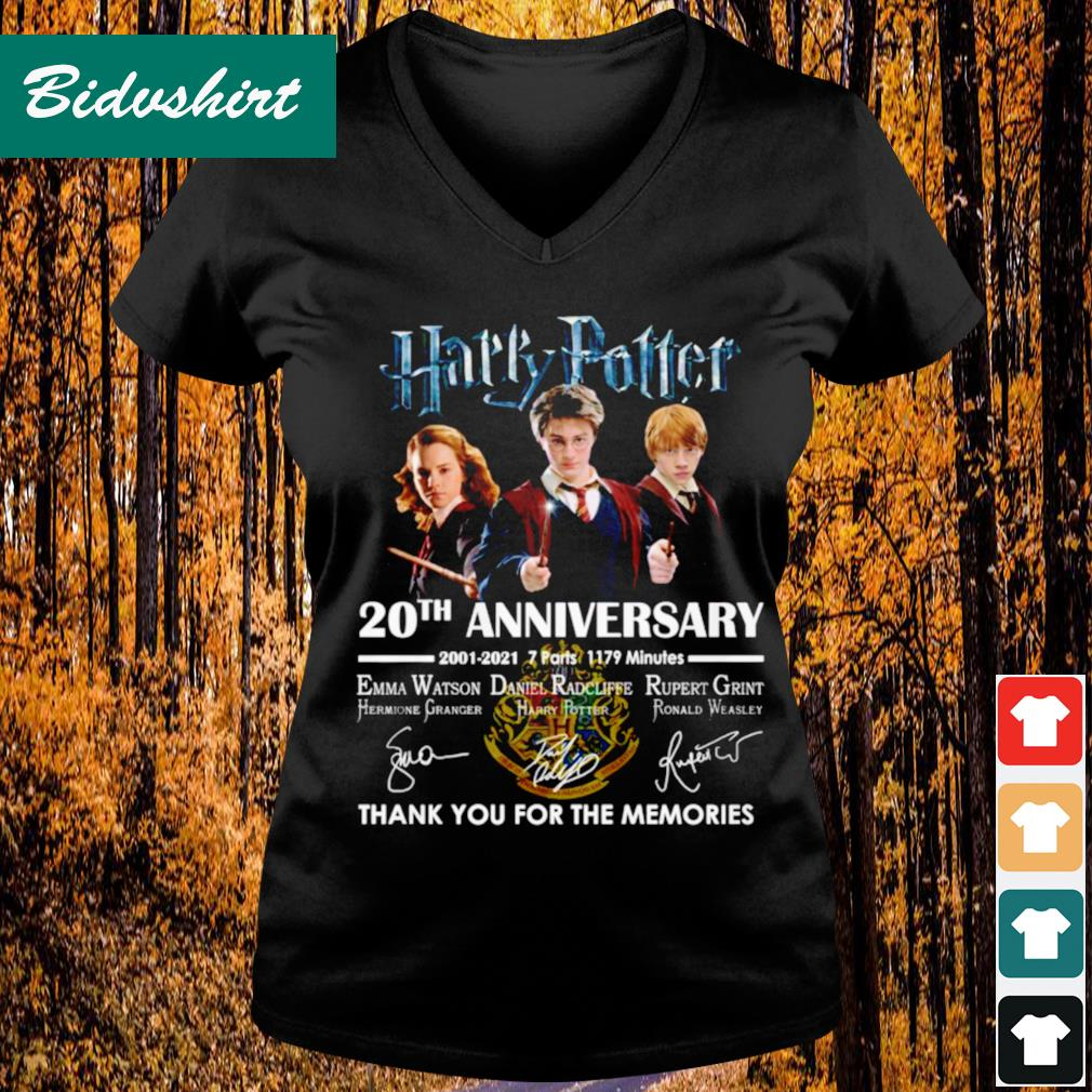 Harry Potter 20th anniversary 2001 2021 thank you for the memories s V-neck t-shirt