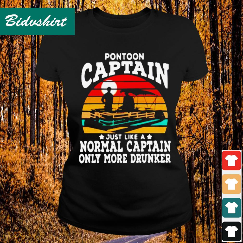 Official Pontoon captain just like a normal captain only more drunker vintage s Ladies-tee