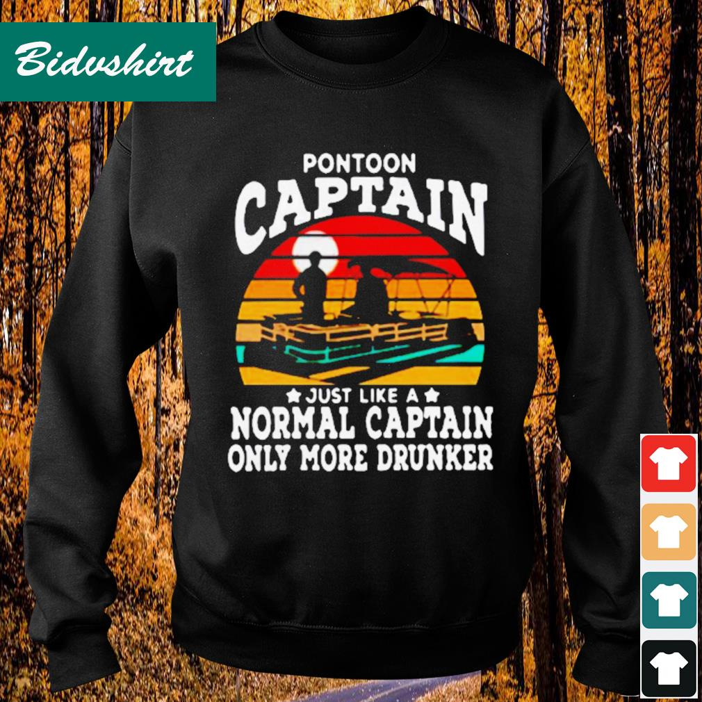 Official Pontoon captain just like a normal captain only more drunker vintage s Sweater