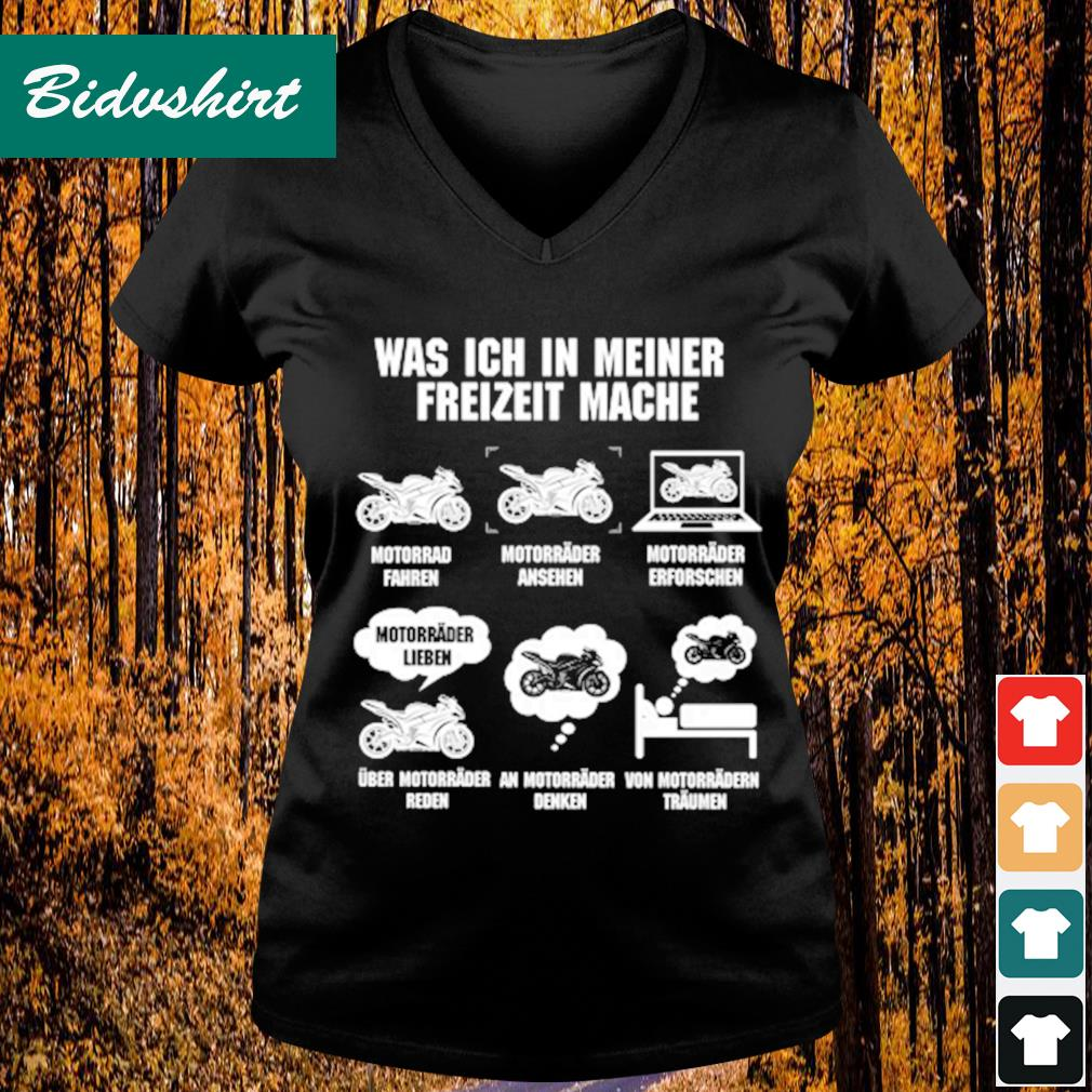 Was ich in meiner freizeit mache s V-neck t-shirt